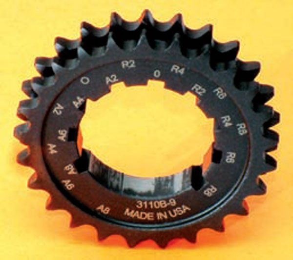 Fig. 10.19. A multi-key sprocket, such as this Comp Cams example, is a good way to time in the cam as long as you know from previous dyno testing exactly what it should be.