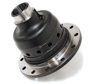The Wavetrac is Moser's version of the geared limited-slip differential. It features a lifetime transferable warranty, even in race applications. Moser says that this is the only limited-slip differential that continues to drive in low- or no-traction situations, even if you have rear tire lift. Because it is geared, it is capable of handling 650 hp on street tires. (Photo Courtesy Moser Engineering)