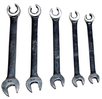 Flare nut wrenches are a must for removing and installing cooling lines. They provide access to the nuts but are designed to have increased contact area, which helps remove and install the nuts without rounding them off.