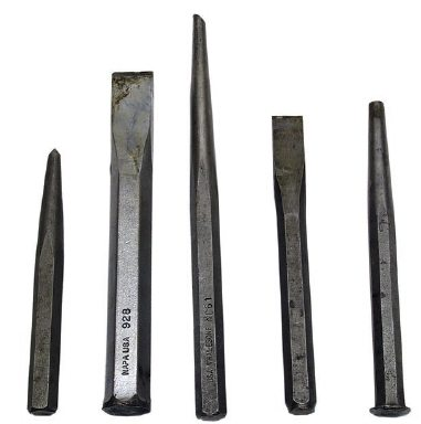 Punches and chisels are handy items for transmission building. You may encounter roll pins that must be removed or installed; you may have to split a bushing to get it loose from its bore.