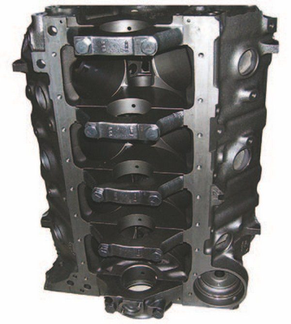Mark IV blocks with two-bolt mains were standard equipment in all lowerhorsepower big-block applications. They are suitable for moderate performance upgrades up to 550 hp and are desired primarily for restorations. Aftermarket caps can be used to convert two-bolt blocks to four-bolt, but they can't use splayed caps because they would interfere with the main oil gallery. (Photo Courtesy Vintage Big Blocks)
