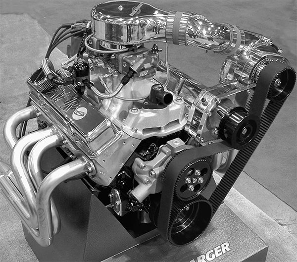 Centrifugals have been around for decades. The old McCulloch centrifugal with straight inlet blades used on the 1957 T-bird have evolved into impressive belt-driven superchargers like this ATI ProCharger that can push close to 1,000 hp out of an aggressive biginch small-block.