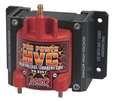 hvc coil uses an e-core winding design to produce high voltage with high  current with any of msd's 7- or 8-series professional racing ignitions