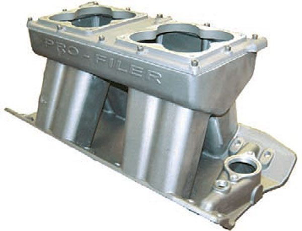 Fig. 7.7. This Pro-Filer intake works well on bigger-inch engines (565 on up) that are intended to peak in the 7,000- to 7,500-rpm range.