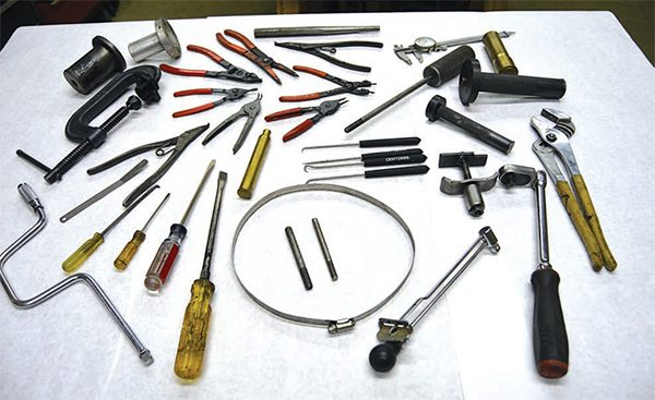 It's surprising the amount of tools you can accumulate over nearly four decades of transmission rebuilding. The good news is that most of what is needed to rebuild the TH350 transmission is already in the average homeowner's toolbox, or can be fabricated quickly from readily available materials at minimal cost.