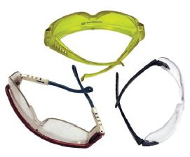 A good pair of safety glasses with plastic or impact resistant lenses is a must for transmission work.