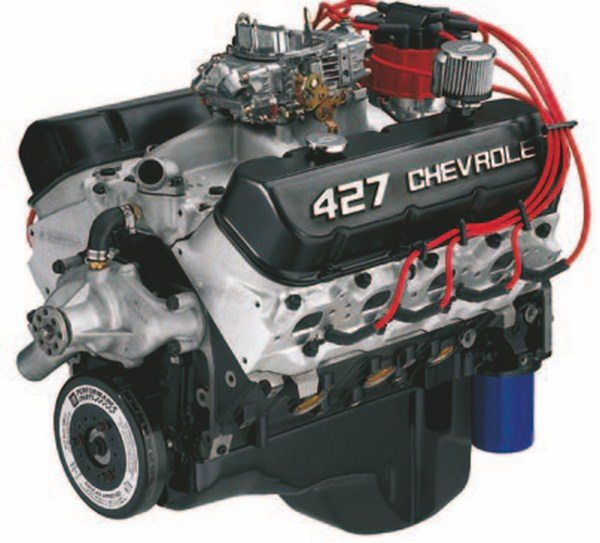 The Gen VI ZZ427/480 is a 480-hp updated pump-gas-compatible heritage version of the classic 1960s L88 427. It combines a stout iron block with a hydraulic roller cam, oval-port aluminum heads, and forged internals with performance to match. (Photo Courtesy Scoggin-Dickey Parts Center)