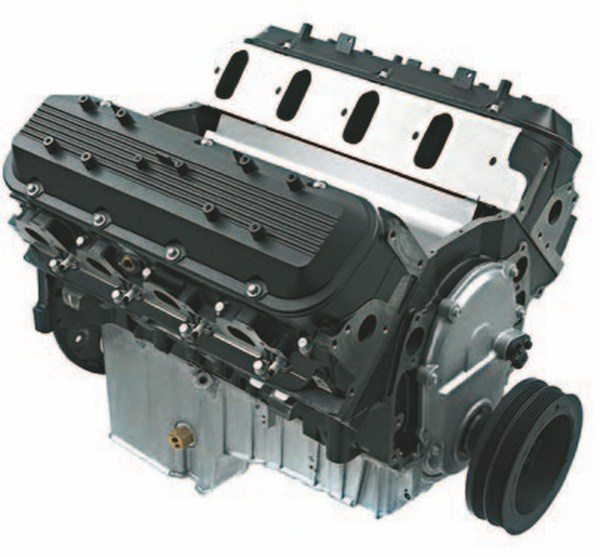 Here's the 8.1L, 496-ci Gen VII L18 engine with iron cathedral-port heads and tough truck-based internals. It's a great starting point for a big-cube engine, but it has numerous differences that must be addressed for performance use. (Photo Courtesy Scoggin-Dickey Parts Center)