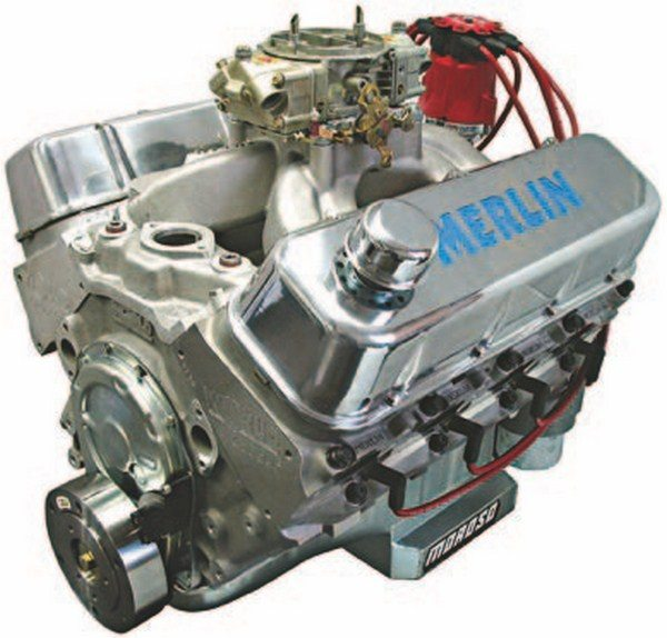 Aftermarket support for big-block builders extends from basic individual components to complete replacements such as this all-aluminum Merlin big-block. They are popular for revitalizing early Camaros, Chevelles, Novas, Corvettes, and full-size cars. (Photo Courtesy World Products)