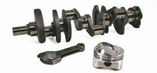 For comparable expense, racers and even restorers can turn to the aftermarket for new high-quality cranks, rods, and pistons. This provides a broad selection of cast and forged components, plus the ability to juggle sizes of stroke and rod length, pin placement, and even ring position.