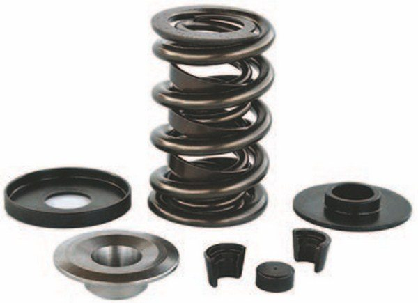 Valvesprings are application specific and the aftermarket provides broad coverage for all big-block usage. That includes a full range of stock replacement parts and specialty racing parts such as titanium retainers, 10-degree locks, hardened-steel spring cups, and locators for use on aluminum heads.