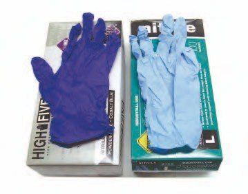 Chemical-resistant gloves help protect your hands from cleaning solvents, automatic transmission fluid, and assembly lubricant.
