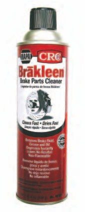 Brake cleaner helps degrease and dry the case prior to assembly. It doesn't leave behind any oil or other chemicals that could prevent paint from sticking.