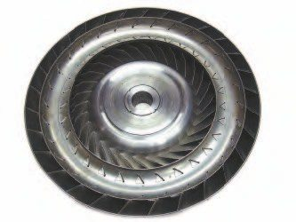 The turbine inside the torque converter is splined directly to the transmission's input shaft. It is mounted directly in front of the impeller and is constantly receiving oil when the engine is in operation. The fins or vanes on the turbine react to the oil being moved against them, turning the oil flow into mechanical energy.