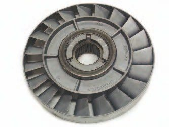 The stator assembly is splined directly to the stationary input splines on the front of the transmission. It is located between the impeller and the turbine, and is a key player in torque converter efficiency. The stator vanes are used to redirect some of the oil flowing from the pump back to the turbine, instead of allowing it to flow away from the turbine and not use the energy that it contains to drive the input shaft.