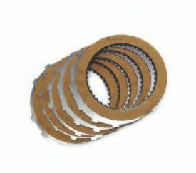 Inside a clutch pack are frictions and steel plates. The basic arrangement is to start with an apply plate, which in many cases is a steel plate, then alternate friction–steel–friction–steel, and end with a backing plate. This basic arrangement of parts is used for all automatic transmission clutch packs. Keep in mind that the apply plate may be a solid steel plate pushing directly on a friction plate, or it may push on a steel plate first. This is an area of transmission building that gets considerable attention because there may have been several different combinations of parts used depending on the transmission model and application.