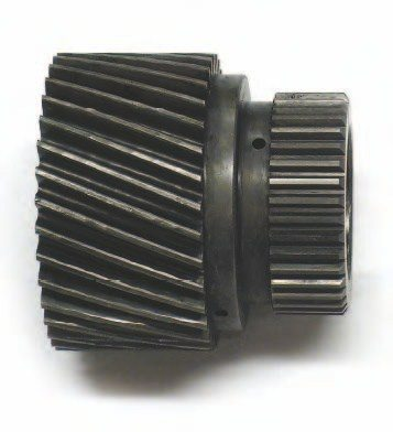 A sun gear is the innermost gear in a planetary gear set. The planetary gear pinions revolve around the sun gear and within a ring gear. This provides three separate elements, which can be held or driven to provide gear reduction, reverse, or a 1:1 (direct) drive.