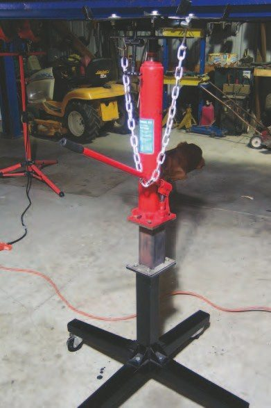 A transmission jack is essential when using a lift for transmission removal and replacement. It holds it in place for hours and allows the transmission to be lowered slowly to get past obstacles that may need to be moved on its way in and out of the vehicle.