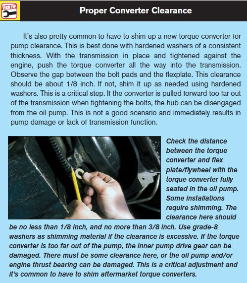 th400 transmission bolt torque specs