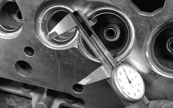 The throat diameter can be measured with a simple set of dial calipers. All our research indicates that 90 percent is the limit for throat diameter in relation to the intake valve.