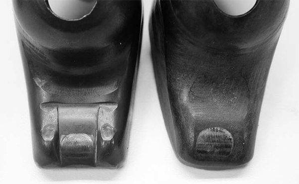 "In the mid 1980s, all production small blocks began using ""guided"" rocker arms that use two small guides that straddle the valve tip to locate the rocker arm tip. Guided or ""rail"" rockers should not be used with guideplates since this could create a binding situation that would break parts."