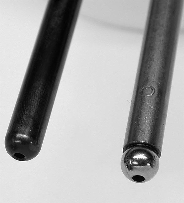 Stock pushrods generally employ welded ball-ends that can fail. For virtually any performance application in which you are running good springs and roller rockers, the smart move is to invest in a properlength performance pushrod.