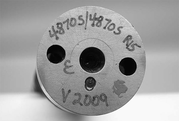 All cam companies stamp the basic grind information on the end of the camshaft to help them keep track of their grinds. Generally, the company stamps the grind number, the cam series, or a part number to help you identify a particular cam.