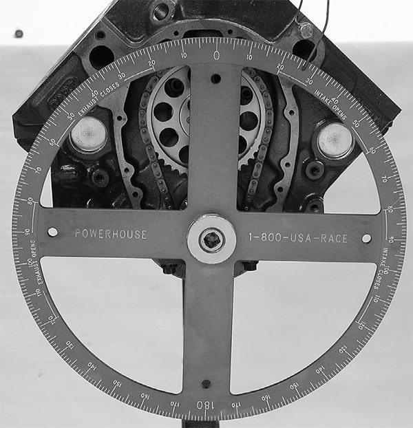 Using a degree wheel ensures the proper positioning of a camshaft in the engine. We get into more details on this in the chapter on installation and degreeing (Chapter 9), but this is how you know where the intake lobe is in reference to TDC on piston Number One.