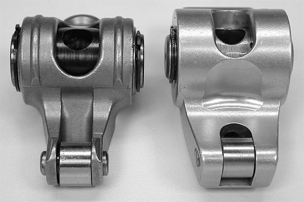 One advantage to steel roller rockers is that the smaller rocker arm tip offers more room to clear larger diameter valvesprings in that critical area just above the retainer. Minimum clearance is 0.050 inches.