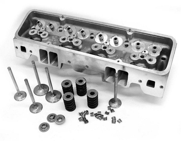 Most cylinder head companies such as Edelbrock, Dart, World, and others offer bare heads at a reduced cost that allow you to outfit the heads with your own personal valves, springs, and the rest of the attendant valvetrain. This may end up costing more money, but it gives you control over all the components in the valvetrain.