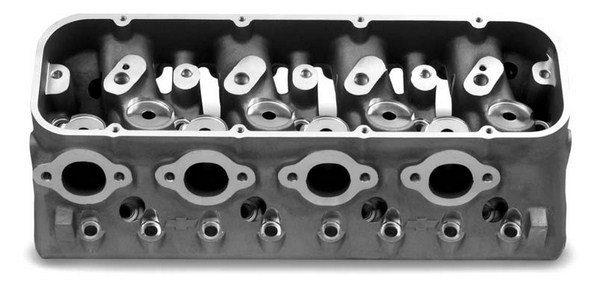 The symmetrical approach evenly spaces the cylinder head exhaust ports, which prevents concentrating heat on the two center exhaust ports, which is a common problem with production valve layout heads on both drag race and endurance engines.